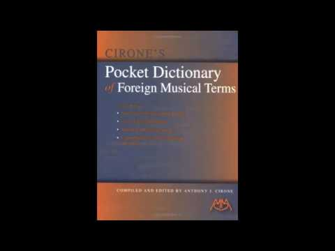 Cirones Pocket Dictionary of Foreign Musical Terms pdf download