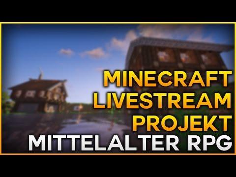 Minecraft Livestream Projekt - Mittelalter Stadt RPG - Bewerbe dich jetzt!