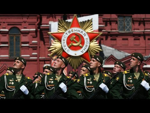 Russian National Anthem - Victory Day Parade on Moscow's Red Square 2015