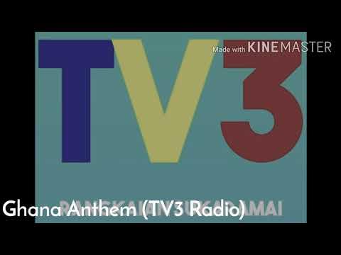 Ghanan National Anthem (TV3 Radio Accra 102.2)