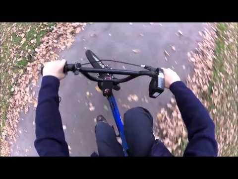 Oscar G riding his reverse steer bmx  head cam