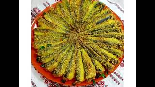 Tradițional moldoveneşte:mămăligă, peşte,ouă,brînză!
