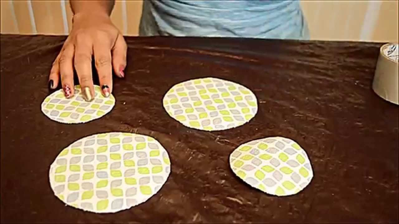 Diy how to make cd coasters with waste cd 39 s youtube for Waste material project
