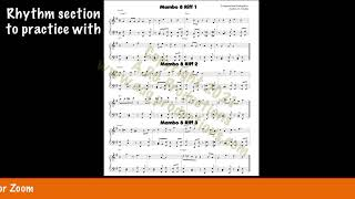 Mambo examples from the music instructional book Latin Solo Series for Piano/Keyboards