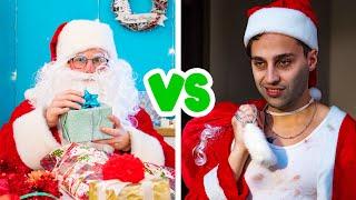 Bon Père Noël contre Mauvais Père Noël