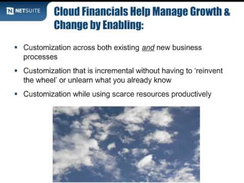 Turbo-Charge Finance for Growth with Cloud Financials