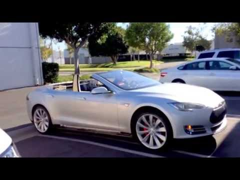 tesla model s convertible is real and it 39 s on ebay video. Black Bedroom Furniture Sets. Home Design Ideas