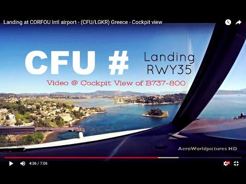 Landing @ CORFU - Intl airport (CFU/LGKR) Greece # Cockpit view - RWY35