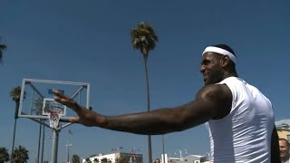 LeBron playing HORSE in Los Angeles