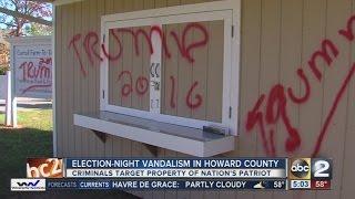 Maryland business vandalized with 'Trump 2016' graffiti