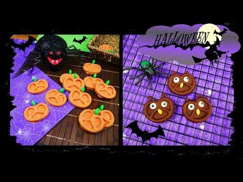 Schnelle Halloween Snacks I Süße Eulen und Kürbisse