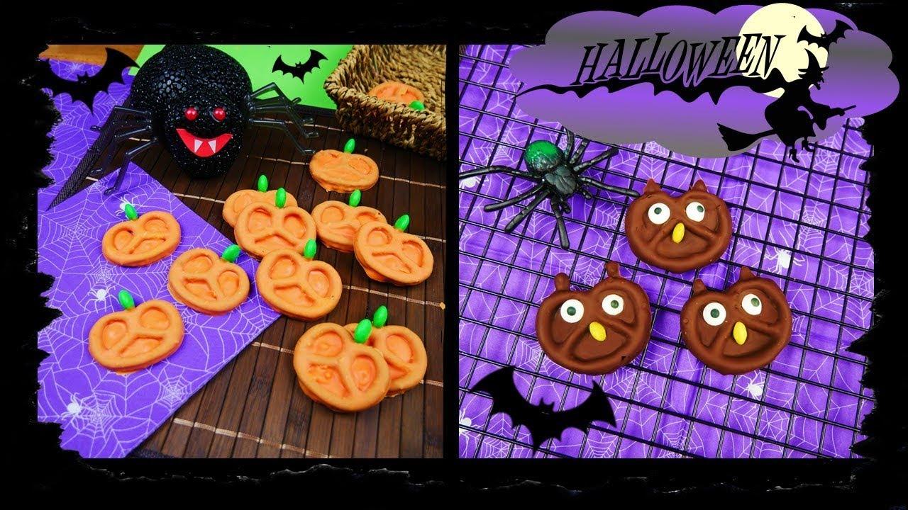 Schnelle Halloween Snacks I Süße Eulen und Kürbisse - YouTube