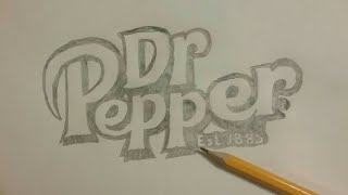 Dr Pepper Logo Speed Drawing