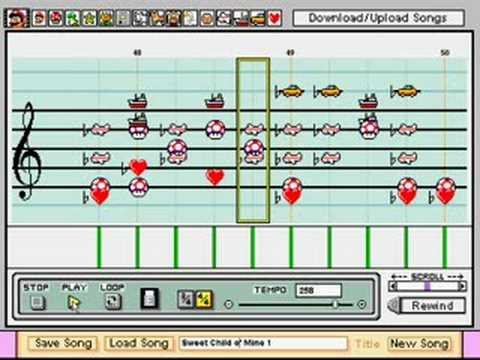Sweet Child o' Mine in Mario Paint Composer