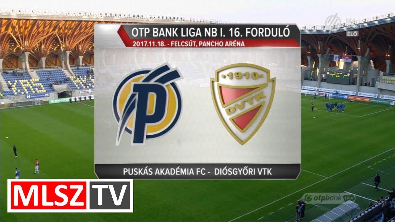 Puskás Akadémia FC - DVTK | 1-0 | OTP Bank Liga | 16. forduló | MLSZTV