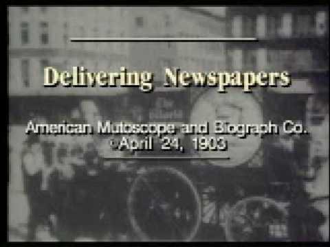 Delivering Newspapers 1899