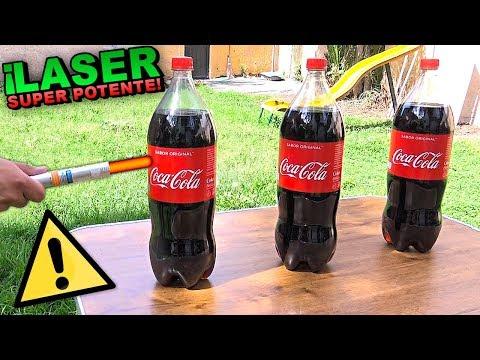 ⚠⚠ LASER MAS  PELIGROSO DEL MUNDO VS COCA COLA TERMINA MAL! (Explotando Coca Cola?) ⚠⚠