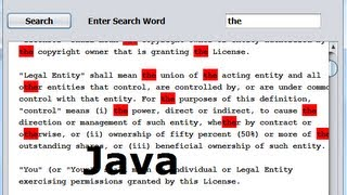 Java prog#141. Find a word in JTextArea and  Highlight It    Part-1