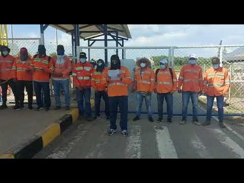 Compañeros despedidos por Glencore en Calenturitas alzan su voz de protesta