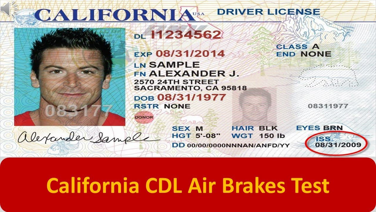 Permit Test Florida >> California CDL Air Brakes Test - YouTube