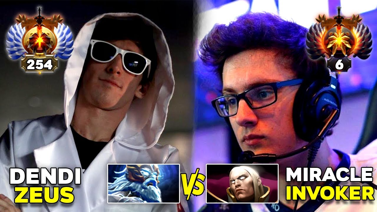 Miracle vs Dendi Mid Signature Heroes Battle - Invoker vs Zeus - Dota 2 thumbnail