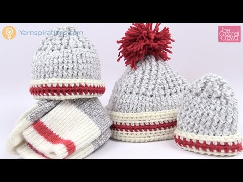 How To Crochet A Hat Sock Monkey Inspired Youtube