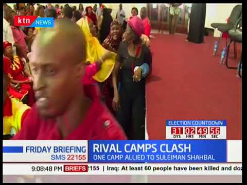 RIVAL CAMPS CLASH: Mombasa Jubilee camps clash