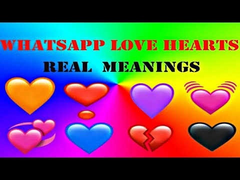 Whatsapp Love Hearts Emojis  Real Meanings #jbncreations