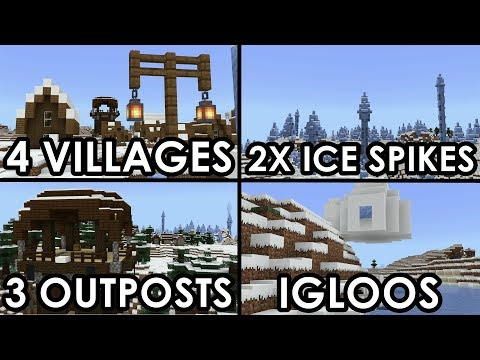 BEST SNOW SEED For Minecraft 1.10!