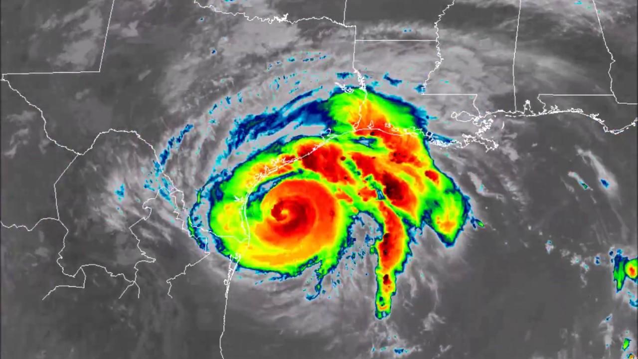 Hurricane Harvey Goes 16 Satellite Aug 25 To 28 2017 Youtube