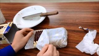 なつかしのビエネッタ バニラを包丁で切ってみました。 2014年11月3日に...