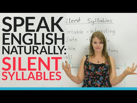 Speak English Naturally: Silent Syllables - YouTube