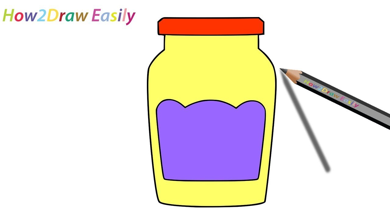 How To Draw A Mason Jar Step By Drawing Coloring