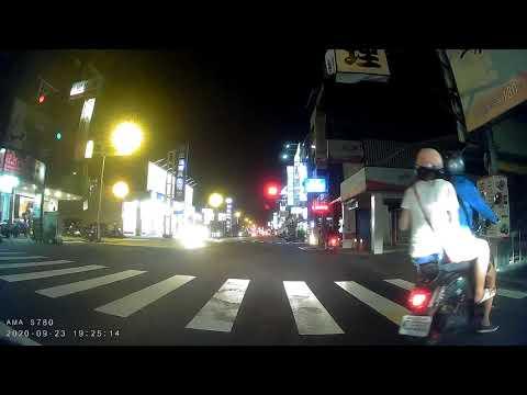 台南三寶阿伯闖紅燈到待轉區,等綠燈直走..(38秒~1分24秒)