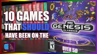 10 Sega Games That SHOULD Have Been on the Sega Genesis Classics - G to the Next Level -Top 10