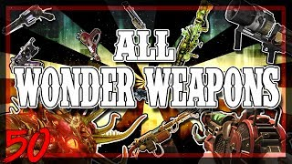 """""""ALL CALL OF DUTY ZOMBIES WONDER WEAPONS"""" ON HIGH ROUNDS - (WAW, BO1, BO2 BO3)"""