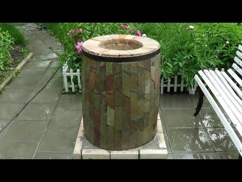 Самодельный тандыр.Homemade tandoor oven.