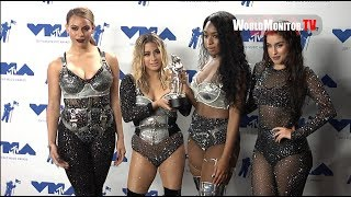 Fifth Harmony Show off their Award Backstage at 2017 MTV Video Music Awards