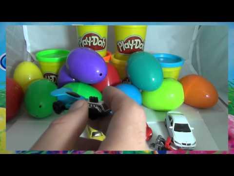 Машинки сюрпризы на русском - развивающее видео для детей - машинки Cars, Welly