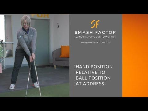 Hand, ball & body set up differences for irons, hybrids & woods