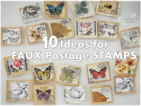 10 Ideas for Faux Vintage Postage Stamps DIY ♡ Maremi's Small Art ♡