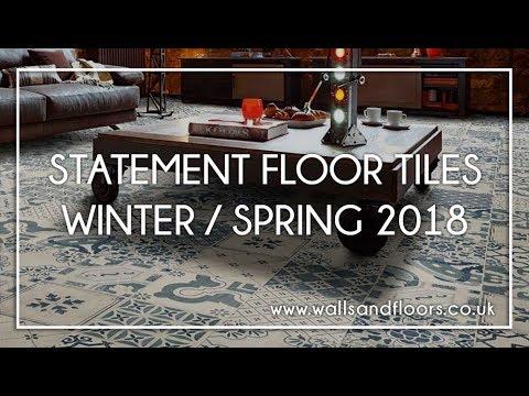 Statement Floor Tiles Winter Spring 2018 Youtube