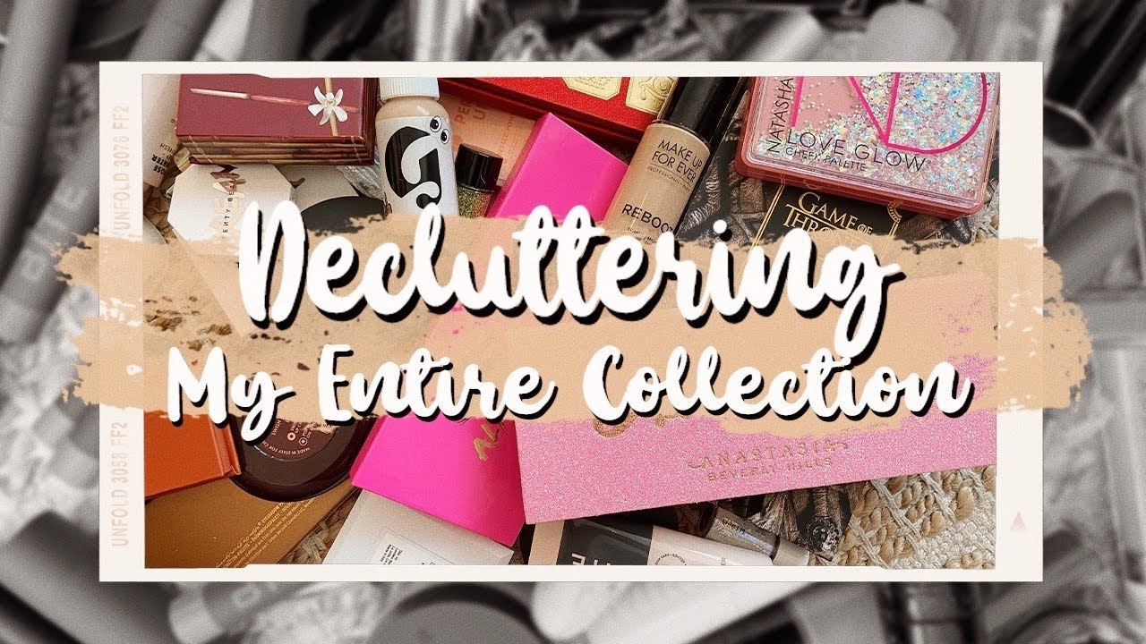 REORGANIZING & DECLUTTERING My ENTIRE Makeup Collection | Julia Adams