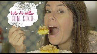 Bolo cremoso de milho com coco by Só Penso em Comida