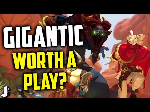 GIGANTICFinallyOnSteam!WorthAPlay?(3rdPersonHeroShooter/MOBA)