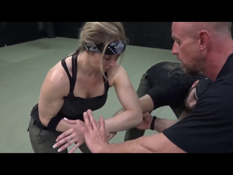 Hot Girl doing Combat Aikido - Brutal arm lock HIJI SHIME