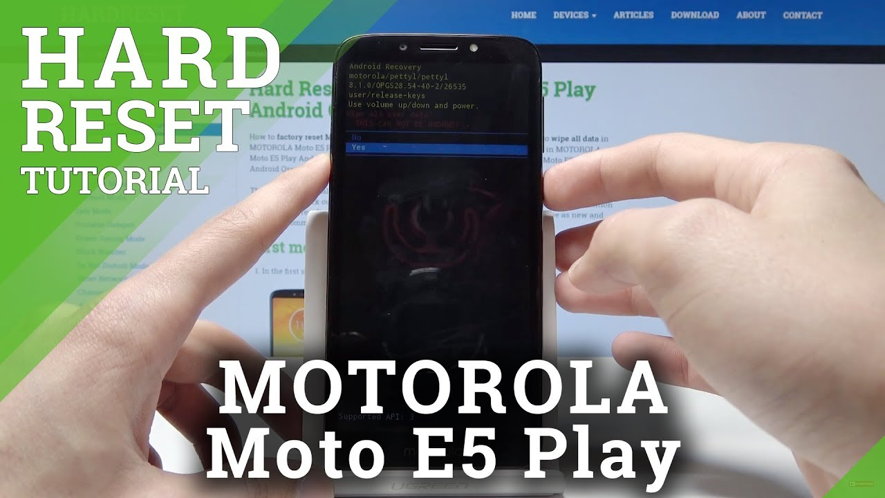 Hard Reset MOTOROLA Moto E4 - HardReset info