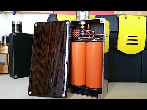Custom made parallel unregulated 26650 box mod