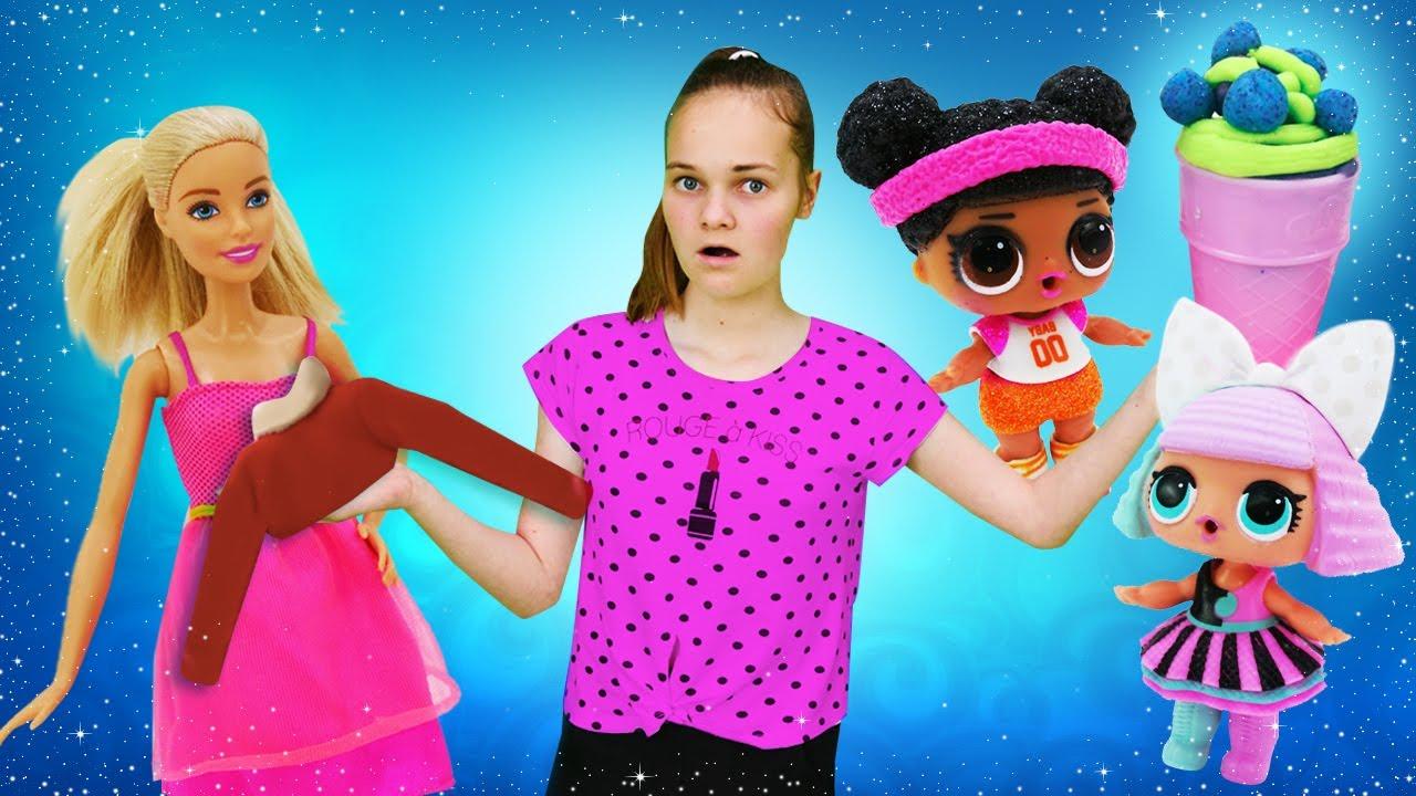 Весёлые игры для девочек - Помогаем Барби и куклам Лол ...