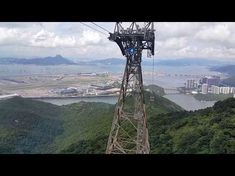 Cable ride in hong kong.